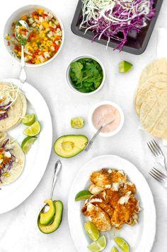Healthy fish tacos...yum!