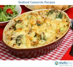This page contains seafood casserole recipes. Plan your next casserole around the seafood or seafood combination of your choice.