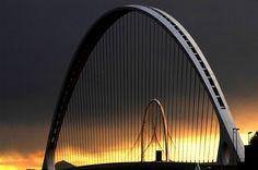 Calatrava's Bridges at sunset, Dallas, Texas