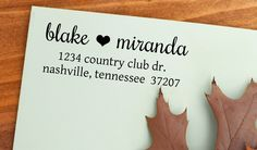 Return Address Stamp   Housewarming gift  by StampTheEnvelope, $29.95