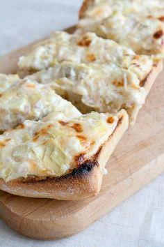 Ciabatta Artichoke Bread with Parmesan and Garlic.    #foodporn #watchwigs www.youtube.com/wigs
