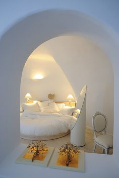 Hotel room in Cycladic architecture.