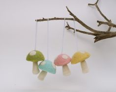 Magical Spring Toadstools by Fairyfolk on Etsy