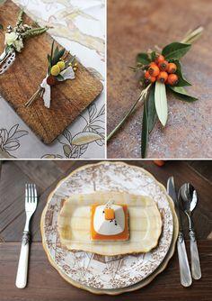 Autumn Boutonnieres A Colour Story | Cinnamon and Paprika