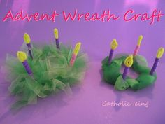 Advent wreath craft for kids- so easy to make!