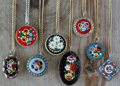micro mosaic jewelry - Bing Images  Love the delicate little patterns!