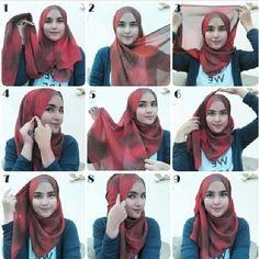 Hijab Tutorial on Pinterest   206 Pins