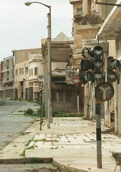Varosha, Cyprus-- abandoned 1974 after airstrike.