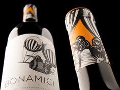 Bonamici Cellars brand and packaging design by Hired Guns #taninotanino #vinosmaximum #vinosinteligentes