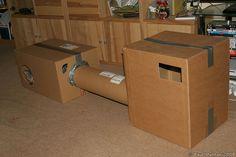DIY cardboard cat houses