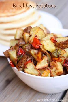 Yummiest Breakfast Potatoes!  You gotta try these!  #breakfast