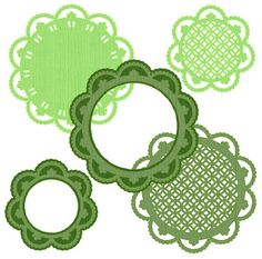 Tons of free frame and doily diecuts for electronic cutters.
