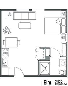 Floor Plan Idea 400 sq ft
