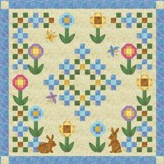 Garden Path Quilt Pattern Download by Cottage Quilt Designs available now at connectingthreads.com for just $9.00 »