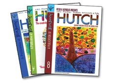 HUTCH Magazine is a kids' literary and creativity magazine published by Peter H. Reynolds' bookstore, The Blue Bunny. Hutch is a 40-page semiannual publication that features stories, art, poetry, book reviews, travel logs and interviews by kids. Sprinkled with Peter's illustrations, news, and creativity tips, Hutch rewards kids who might not get validation elsewhere. Paper-bound version is available for $6.95. A downloadable PDF version is also available for the same price.