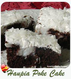 Haupia Pudding Poke Cake - ILoveHawaiianFoodRecipes