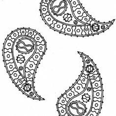 Paisley embroidery pattern.