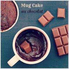 #mugcake cœur coulant au chocolat, la #recette !