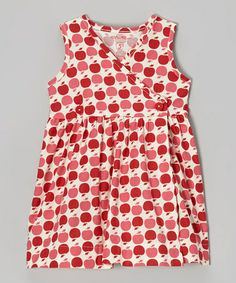 Love this print!! :: Red Apple Button Wrap Dress - Infant, Toddler & Girls by Smiling Button on #zulily