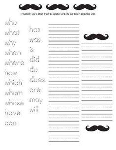 mustache activities, mustache lessons, moustache, mustache posters ...
