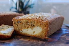 Inside-out Carrot Cake Loaf (cream cheese filled carrot cake)