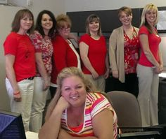 Fred's Appliance wears red on Fridays! Here is a picture of their service department showing off their red!