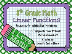 8th Grade Interactive Notebook Bundle- Linear Functions from 4mulaFun on TeachersNotebook.com -  (52 pages)  - 8th Grade Interactive Notebook Bundle- Linear Functions