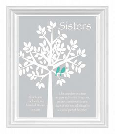 Wedding Gift For Sister Pinterest : Sisters Personalized Gift - Maid of Honor Gift Wedding Gift for Sister ...