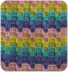 Victorian Step- Bargello Crochet Row Designs ~ Free Pattern