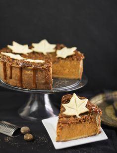 Deep Dish Pumpkin Pie with Dulce de Leche Walnut Streusel