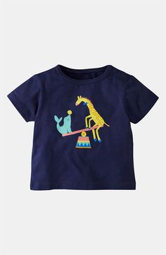 Mini Boden 'Circus Animal' T-Shirt (Infant)