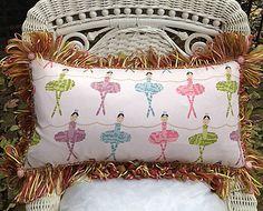 Pretty Pastel Ballerinas Pillow by TeaLadyPillows on Etsy, $41.95