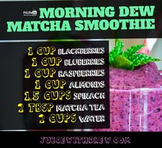 Fat Loss Morning Dew Match Smoothie Recipe