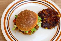 Spicy Southwestern Vegetarian Burger -smokey and zesty. #veggieburger