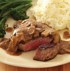 dinner, steak recipes, sauces, sauce recipes, steaks, food, healthi recip, sear steak, mustardmushroom sauc