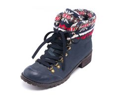 Navy Kirby Lace Boots. Enter to win a $75 gift-card. www.lebunnybleu.com/giveaway_holly