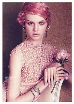 Vogue Japan August 2012 Fashion Editorial pastel sweet rose spring designer photography magazine soft Dior