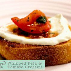 Whipped feta & tomato crostini