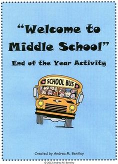 Each year, I have my 8th grade students make a Welcome to Middle School book for the upcoming middle school students. This writing activity is desi...