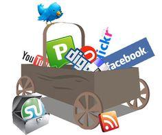 Menu para redes sociais com ícones grátis