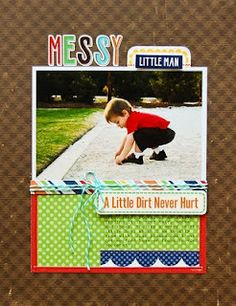 Echo Park *Little Boy Collection* Layout
