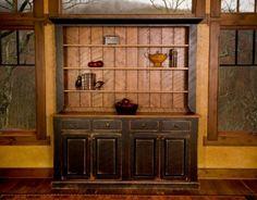 rustic cabinet hutch