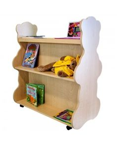 Teddy Bear themed nursery#Baby boy#Baby girl#Rolling Bookcase#Mobile Bookcase#reading#books#kids books#