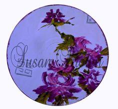 vinyl purple chrysanthemum by femmehesse on Etsy, $22.50