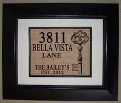 Personalized House Warming Gift BURLAP Print .. Makes a Unique New Home Gift