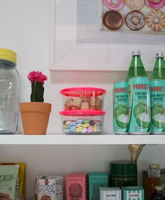 Recolor | change out your boring storage containers to ones with awesome neon lids!