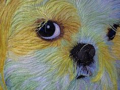 """close up, Missy, in:  """"The Dogs"""" by Shannon Conley"""