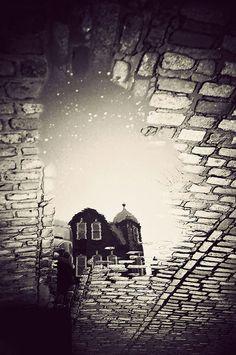 London in Puddles by Gavin Hammond