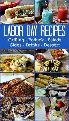 Labor Day Recipes | Grilling Recipes, Potluck Recipes, Salads, Sides, Desserts and Drinks | Recipes on PocketChangeGourmet.com