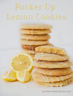 Southern Distinctions: Pucker Up Lemon Cookies